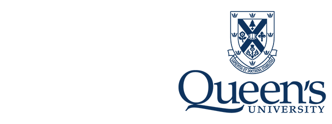 Queen's University logo with a blue coat of arms